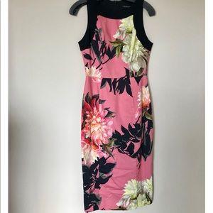 Floral Black Halo Dress Size 2